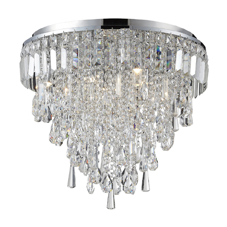 Marquis by Waterford Bresna 50cm Mixed Crystal Flush Ceiling Light