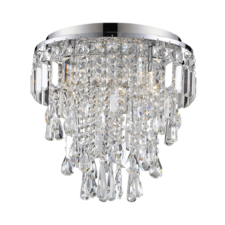 Marquis by Waterford Bresna 38cm Mixed Crystal Flush Bathroom Ceiling Light