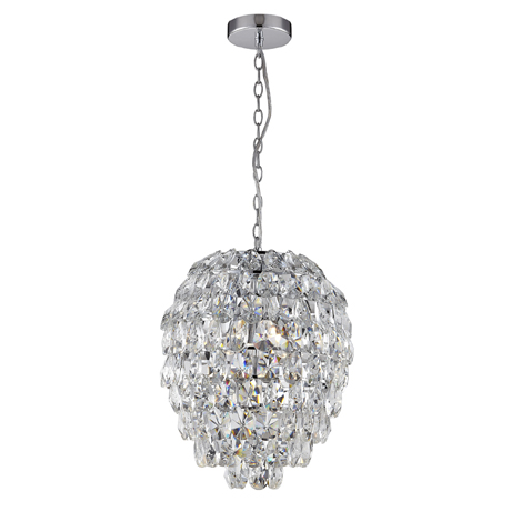 Marquis by Waterford Almond Crystal Ball Pendant Bathroom Ceiling Light