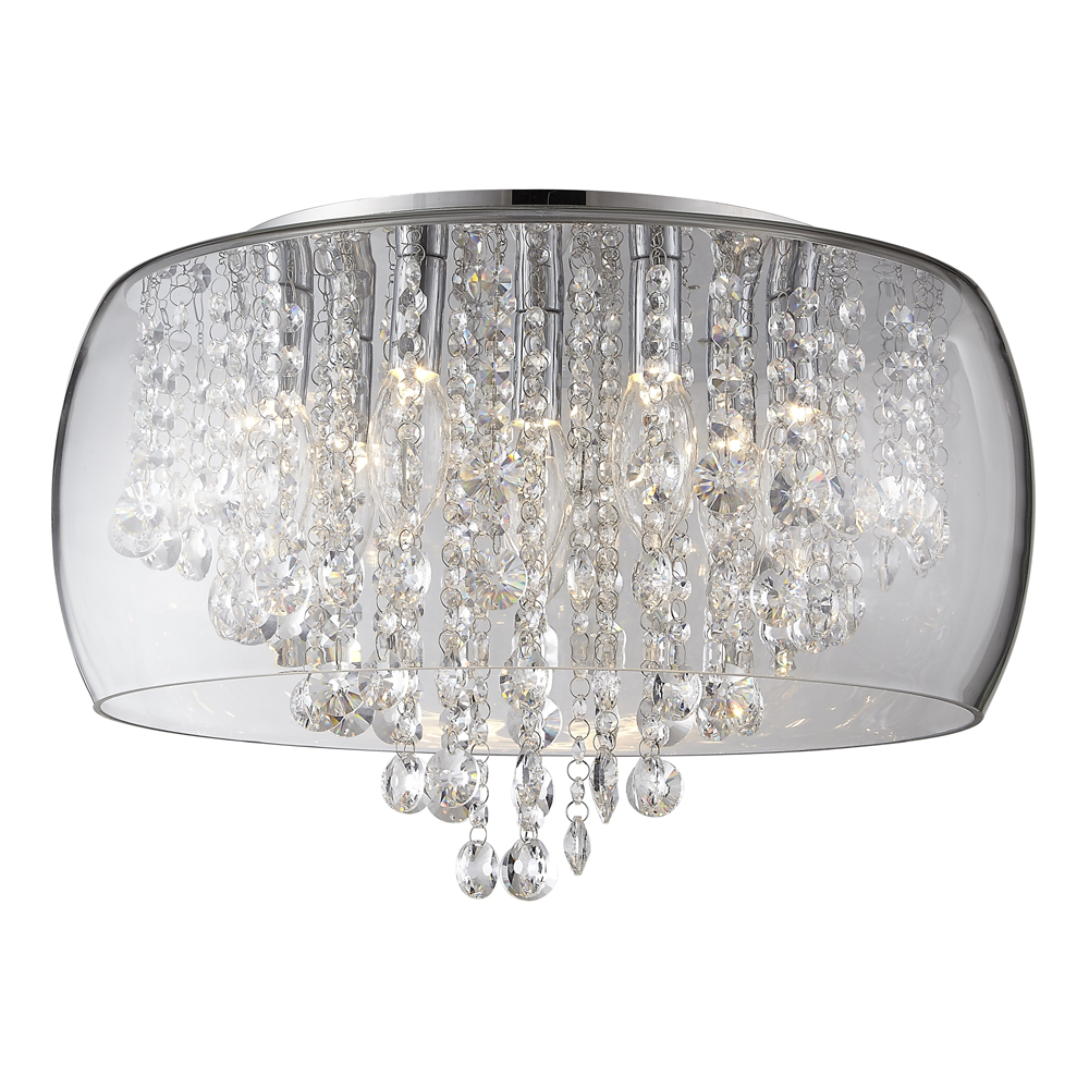 Marquis by Waterford Nore Large Encased Flush Bathroom Ceiling Light