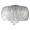 Marquis by Waterford Nore Large Encased Flush Bathroom Ceiling Light profile small image view 1