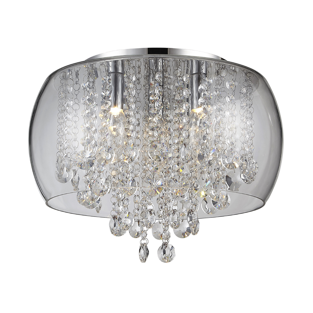 Marquis by Waterford Nore Small Encased Flush Bathroom Ceiling Light