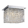 Marquis by Waterford Fane Medium Crystal Square Flush Bathroom Ceiling Light profile small image view 1