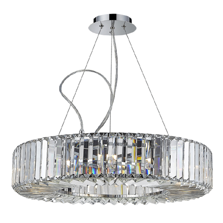 Marquis by Waterford Foyle Large Crystal Bar Pendant Bathroom Ceiling Light