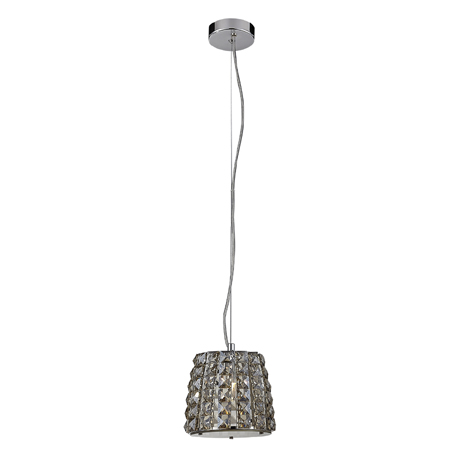 Marquis by Waterford Moy Small 1 Light Crystal Pendant Bathroom Ceiling Light - Champagne