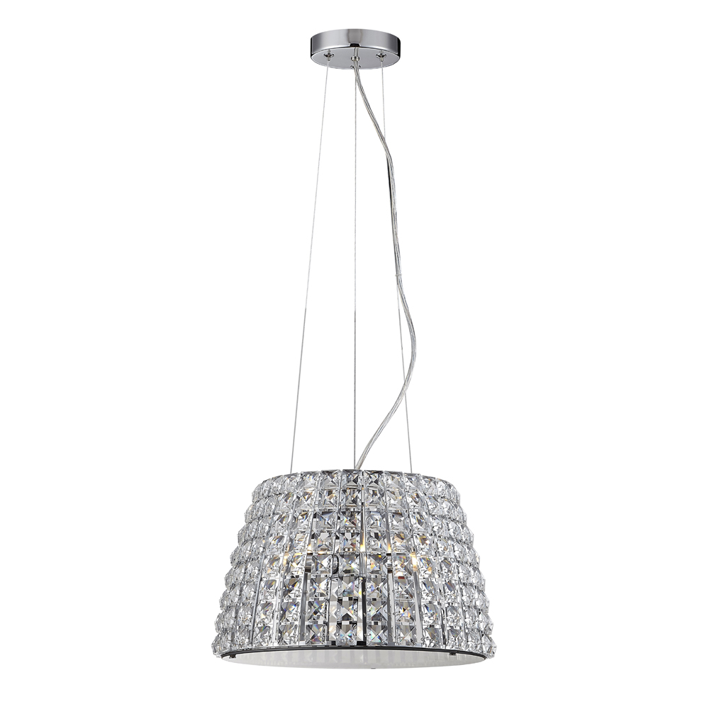 Marquis by Waterford Moy Large 3 Light Crystal Pendant Bathroom Ceiling Light