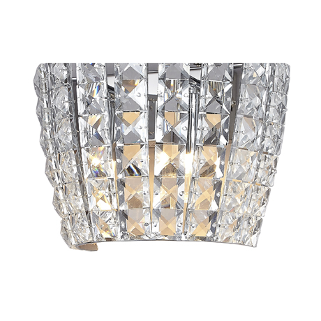 Marquis by Waterford Moy 2 Light Crystal Bathroom Wall Light