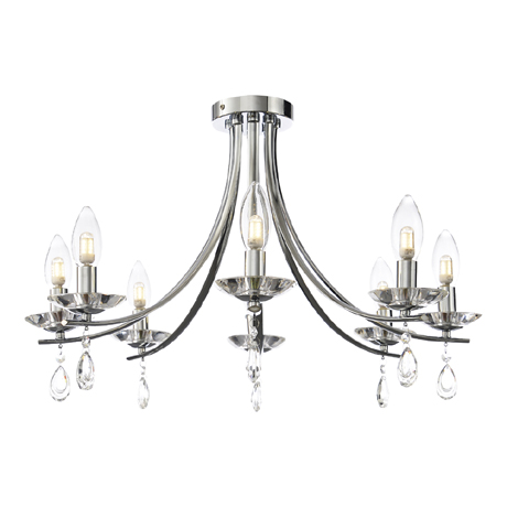 Marquis by Waterford Bandon 8 Light Curved Arm Chandelier Bathroom Ceiling Light