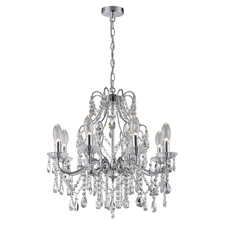 Marquis by Waterford Annalee Large 8 Light Chandelier Bathroom Ceiling Light