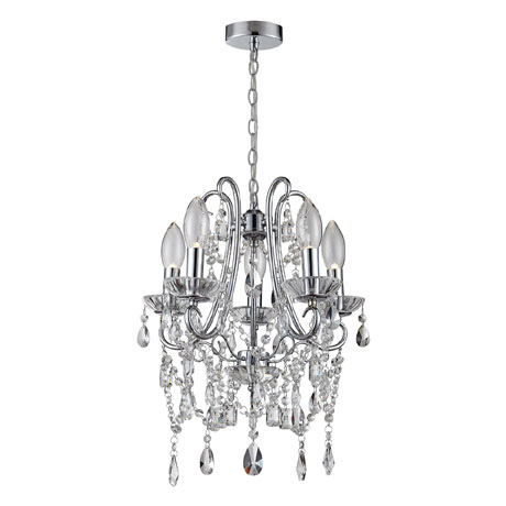 Marquis by Waterford Annalee Small 5 Light Chandelier Bathroom Ceiling Light