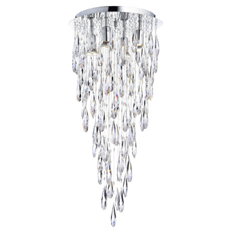 Marquis by Waterford Deel 35cm New Crystal Dropper Flush Bathroom Ceiling Light