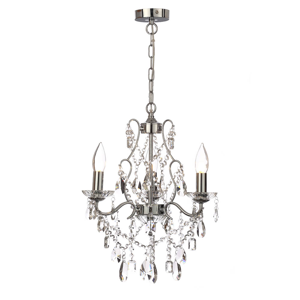 Marquis by Waterford Annalee 3 Light Chandelier Bathroom Ceiling Light