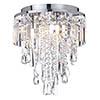 Marquis by Waterford Bresna 28cm Mixed Crystal Flush Bathroom Ceiling Light profile small image view 1