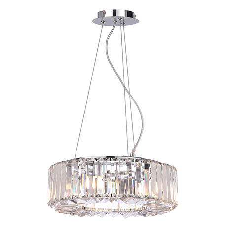 Marquis by Waterford Foyle Small Crystal Bar Pendant Bathroom Ceiling Light