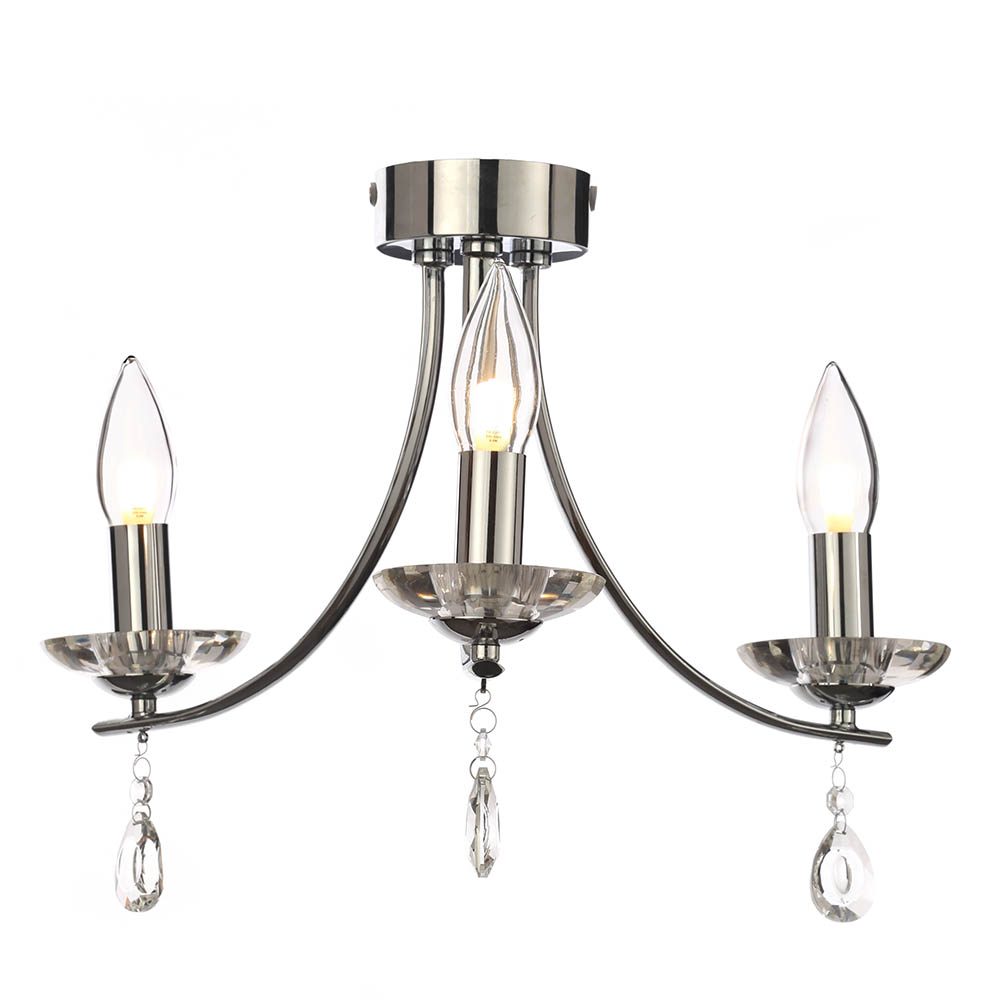 Marquis by Waterford Bandon 3 Light Curved Arm Chandelier Bathroom Ceiling Light