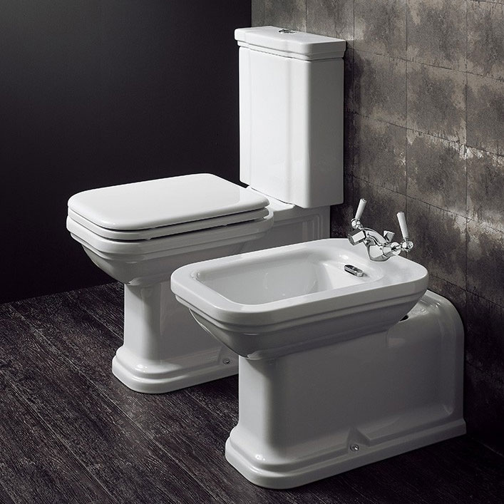 Bauhaus - Waldorf Art Deco Close Coupled Toilet with Soft Close Seat Feature Large Image