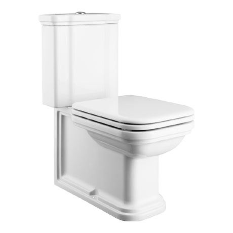 Bauhaus - Waldorf Art Deco Close Coupled Toilet with Soft Close Seat