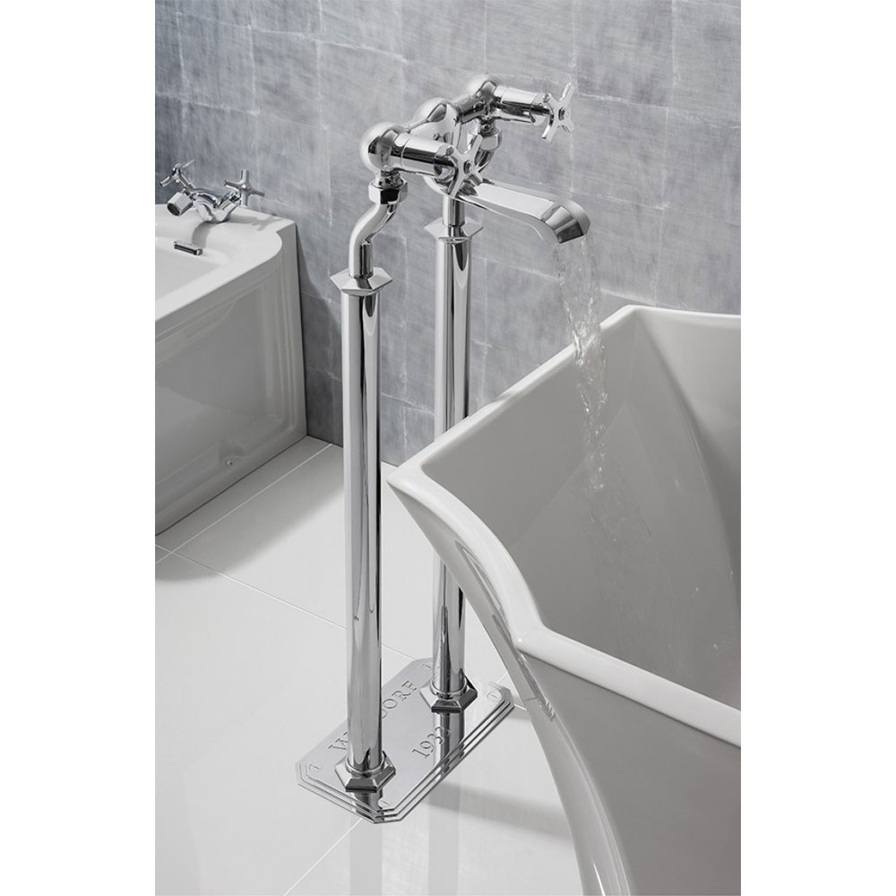 Crosswater - Waldorf Art Deco Crosshead Floor Mounted Freestanding Bath Filler Profile Large Image