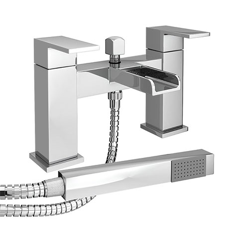 Plaza Waterfall Bath Shower Mixer Taps + Shower Kit
