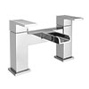 Plaza Waterfall Modern Bath Taps Medium Image