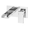 Monza Waterfall Wall Mounted Basin Mixer - Chrome profile small image view 1