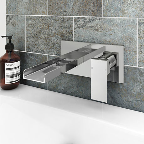Monza Waterfall Wall Mounted Bath Filler - Chrome