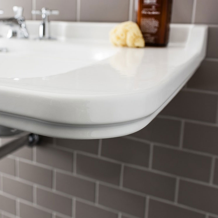 Bauhaus - Waldorf Art Deco 60 Wall Mounted Basin Profile Large Image