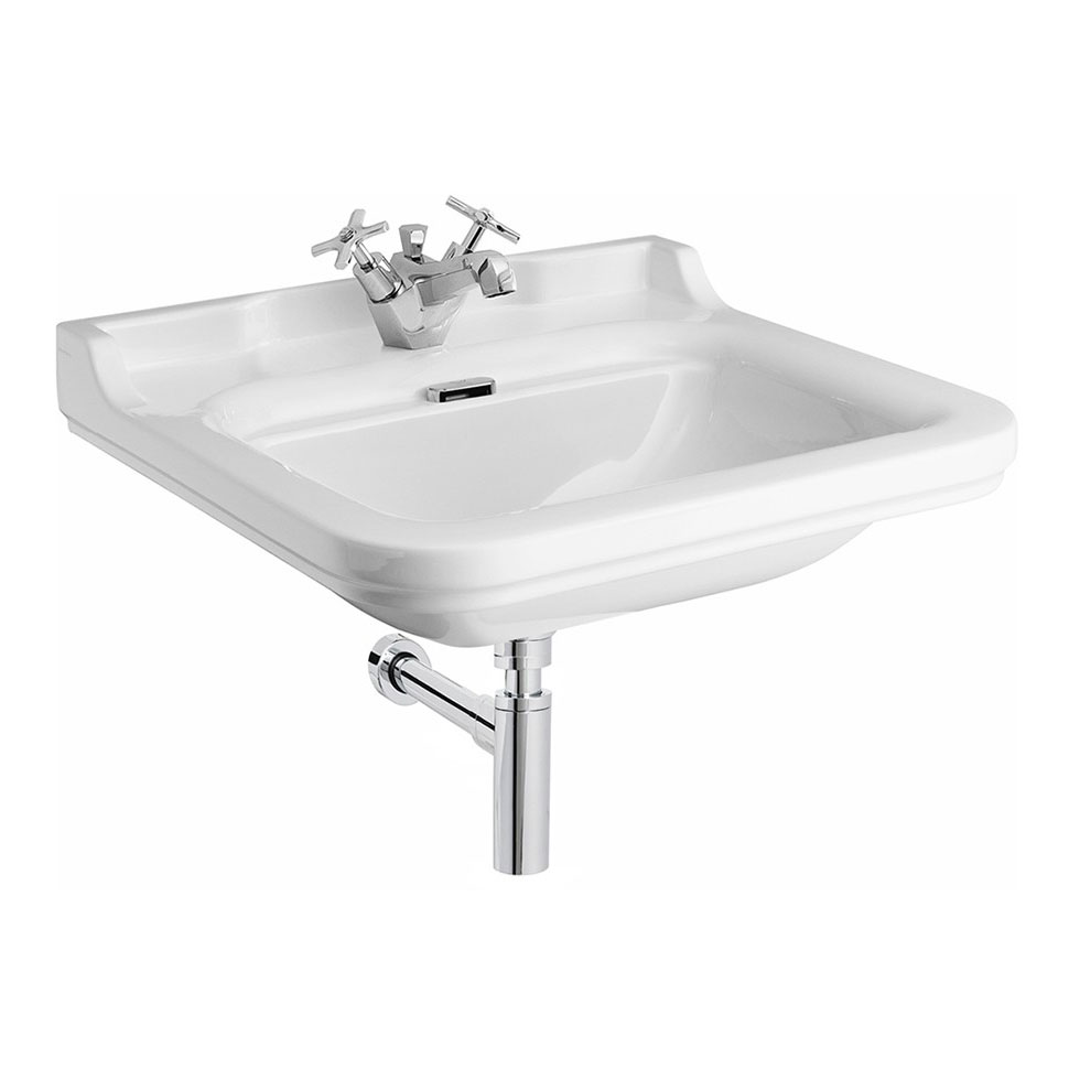 Bauhaus - Waldorf Art Deco 60 Wall Mounted Basin Large Image