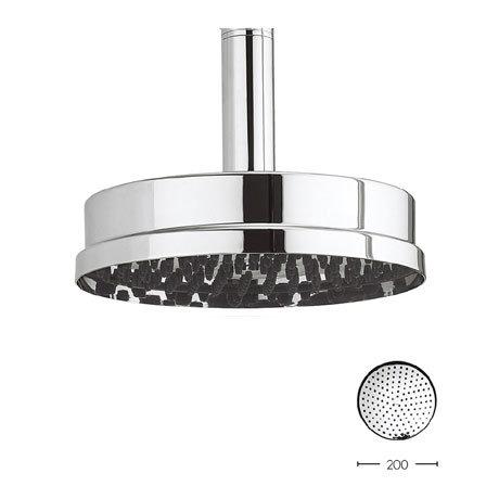Crosswater - Waldorf 200mm Easy Clean Luxury Round Fixed Showerhead - WF08C_EC