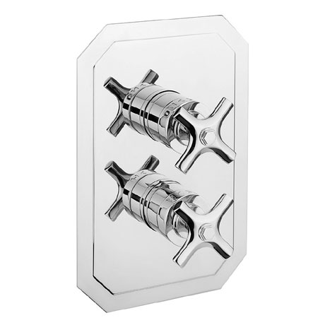 Crosswater - Waldorf Art Deco Crosshead Thermostatic Shower Valve with 3 Way Diverter - WF2500RC+