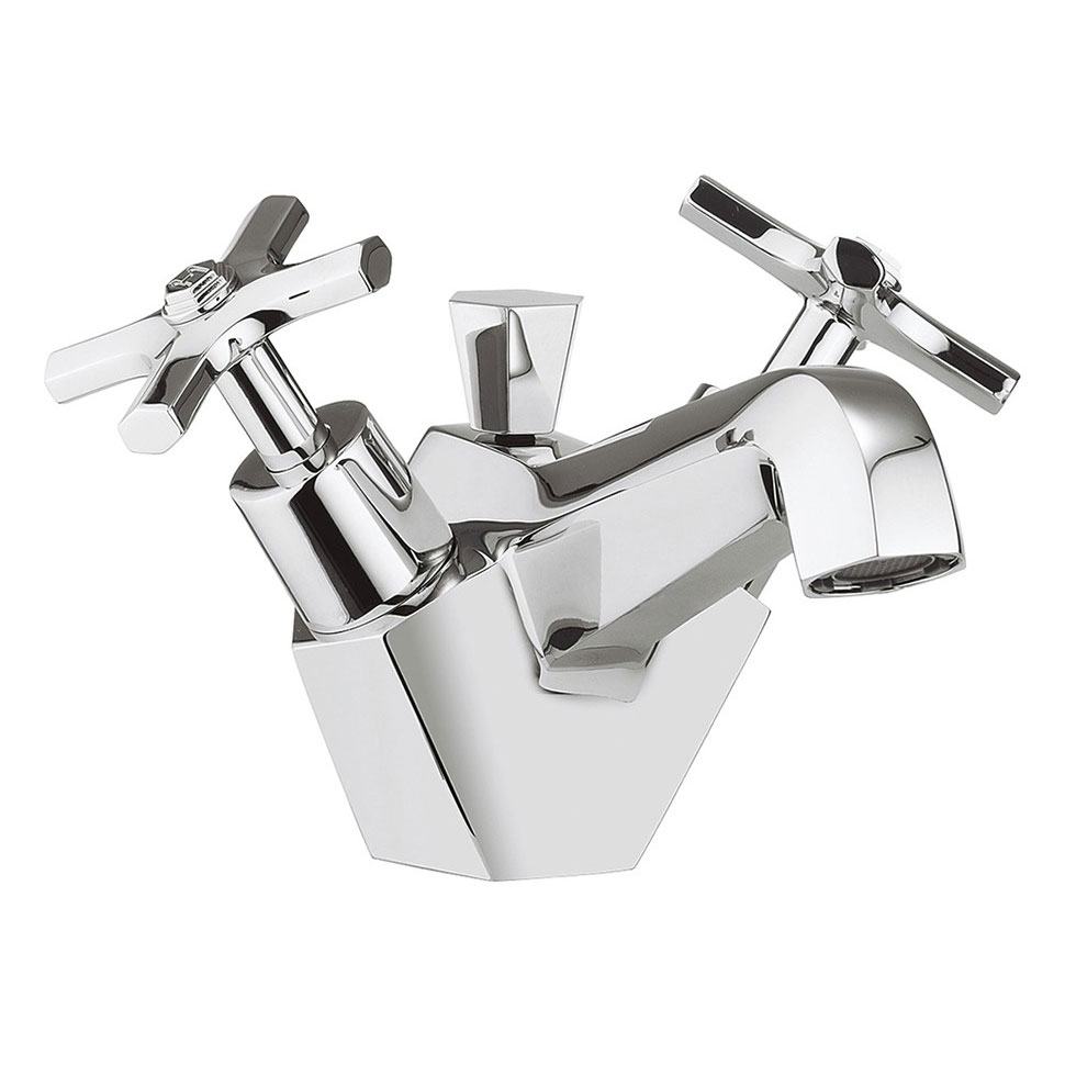 Crosswater - Waldorf Art Deco Crosshead Monobloc Basin Mixer with Pop-up Waste - WF110DPC Large Image