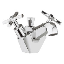 Crosswater - Waldorf Art Deco Crosshead Monobloc Basin Mixer with Pop-up Waste - WF110DPC Medium Image