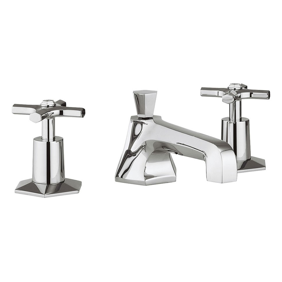 Crosswater - Waldorf Art Deco Crosshead 3 Tap Hole Basin Mixer - WF130DPC profile large image view 1