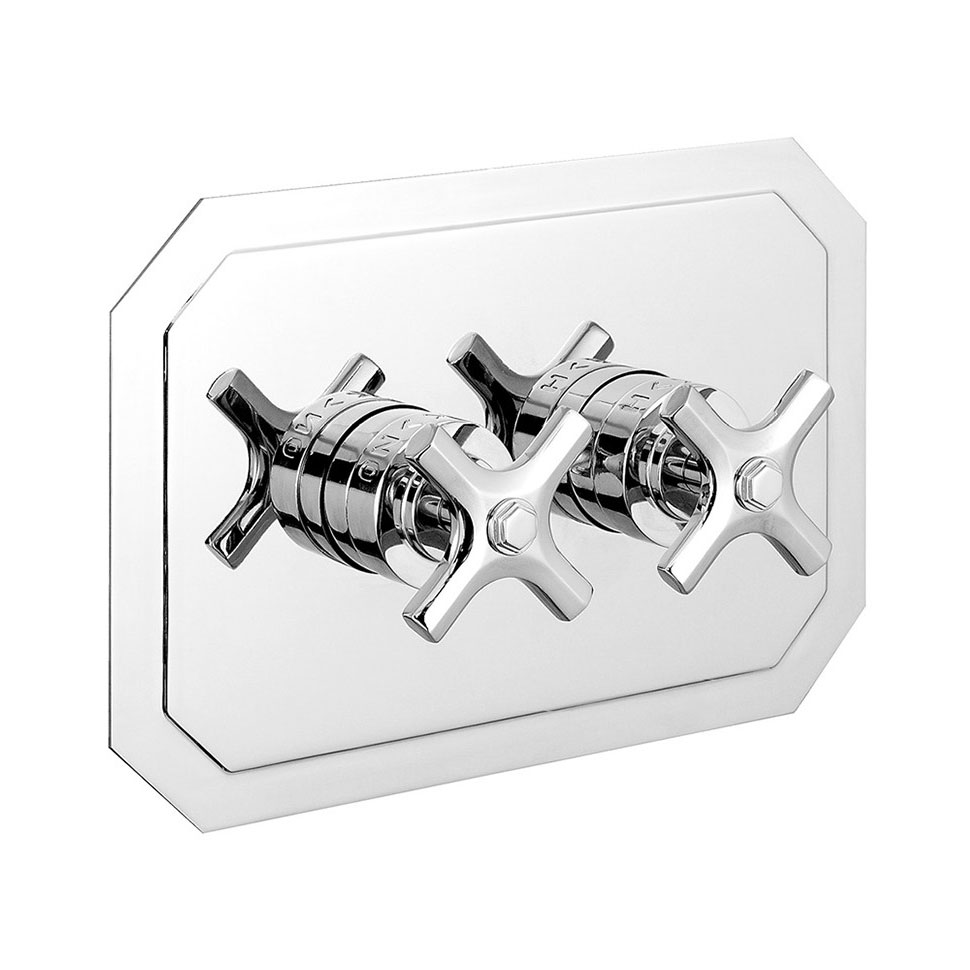 Crosswater - Waldorf Art Deco Crosshead Thermostatic Shower Valve with 2 Way Diverter - Landscape - WF1501RC+ profile large image view 1