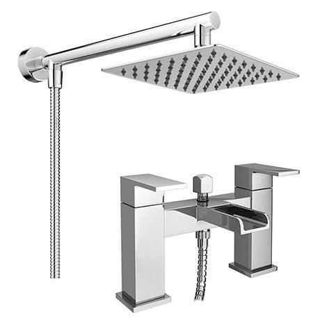 Monza Waterfall Bath Shower Mixer Inc. Overhead Rainfall Shower Head