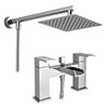 Plaza Waterfall Bath Shower Mixer Inc. Overhead Rainfall Shower Head profile small image view 1