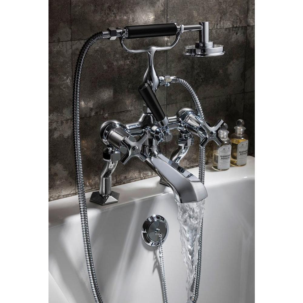Crosswater - Waldorf Art Deco Black Lever Bath Shower Mixer with Kit - WF422DC_BLV Profile Large Image