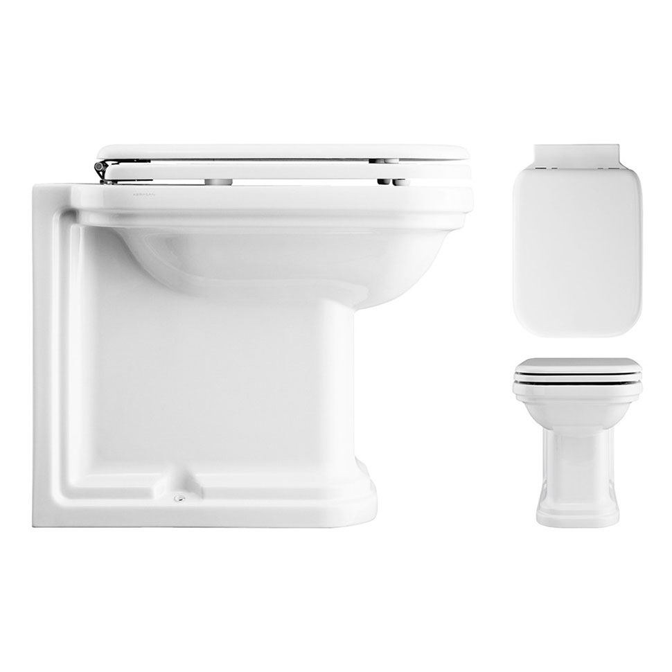 Bauhaus - Waldorf Art Deco 55 Back to Wall Pan with Soft Close Seat profile large image view 2
