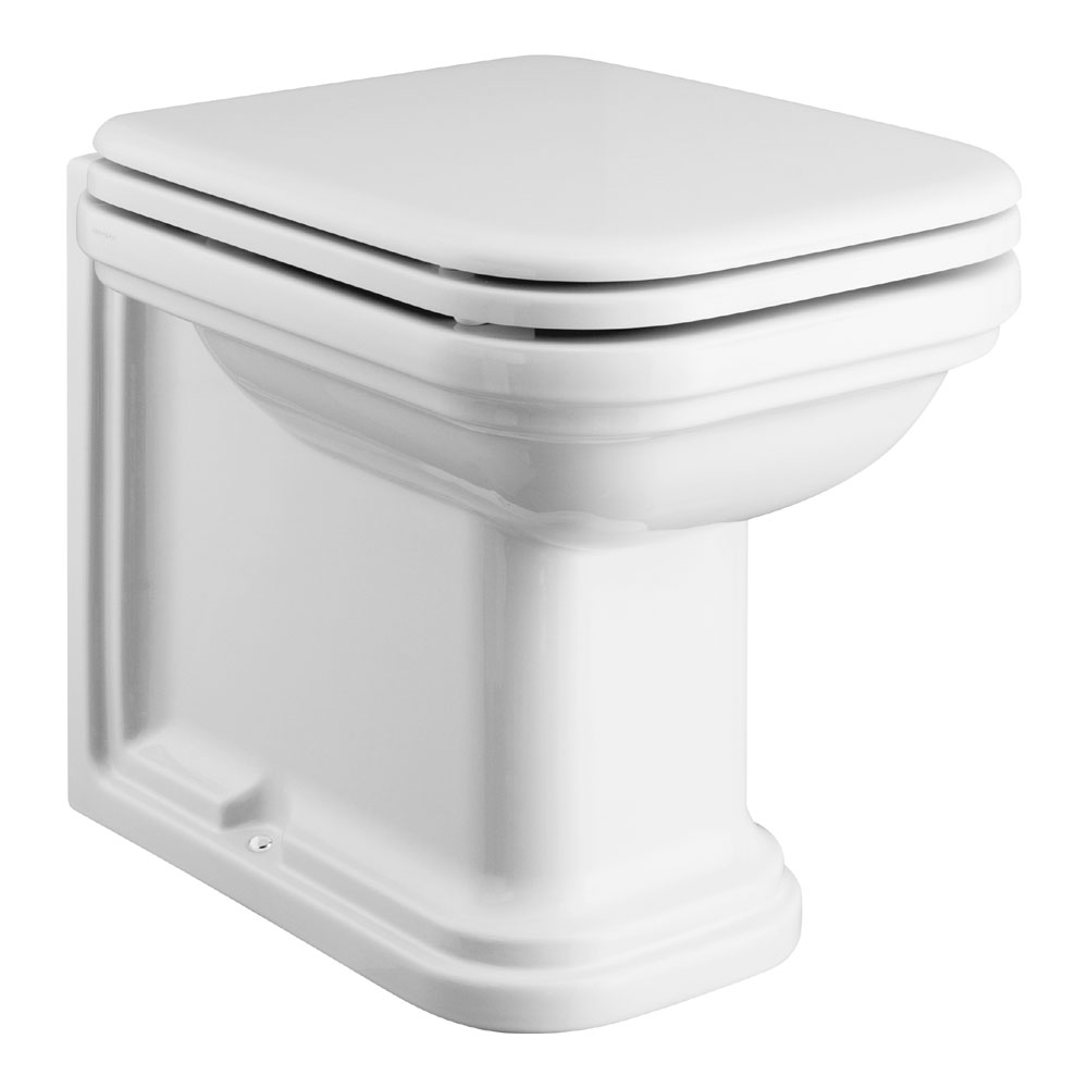 Bauhaus - Waldorf Art Deco 55 Back to Wall Pan with Soft Close Seat profile large image view 1