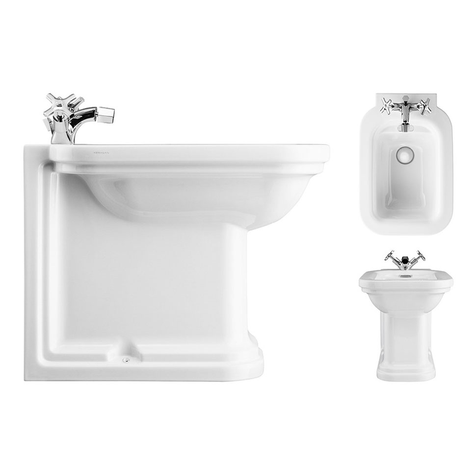 Bauhaus - Waldorf Art Deco 55 Back to Wall Bidet Large Image