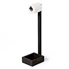 Wooden Freestanding Toilet Roll Holder Dark Oak profile small image view 1
