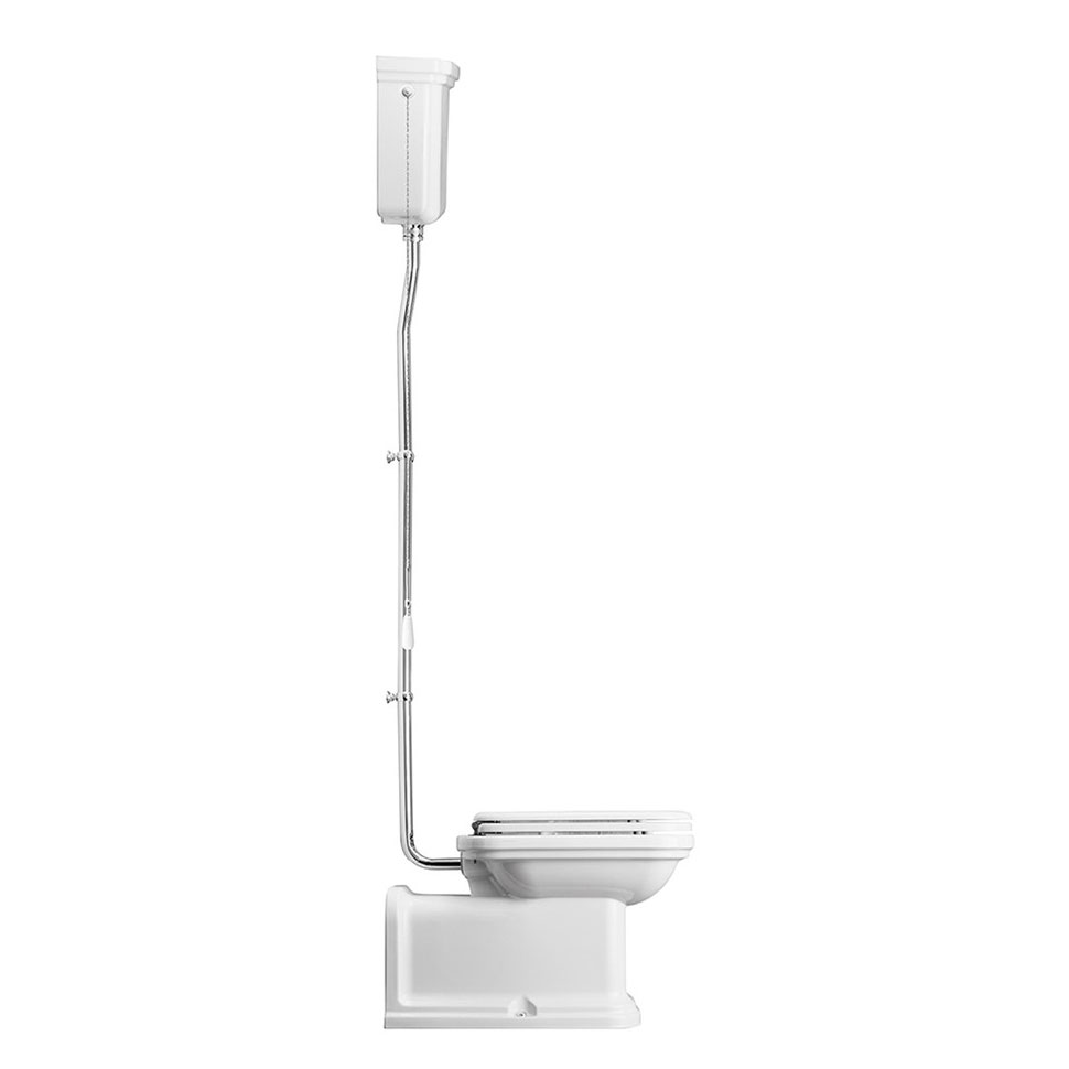 Bauhaus - Waldorf Art Deco Back to Wall High Level Toilet with Soft Close Seat Profile Large Image