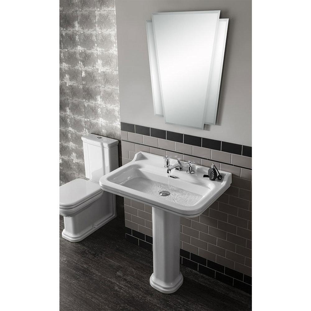 Bauhaus - Waldorf Art Deco 80 Basin & Pedestal Profile Large Image
