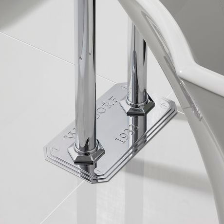Crosswater - Waldorf Art Deco Black Lever Floor Mounted Freestanding Bath Shower Mixer profile large image view 2