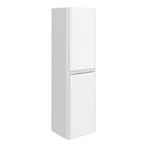 Moselle 1200 Gloss White Wall Hung 2 Door Tall Storage Unit Medium Image