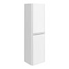 Moselle 1200mm Gloss White Wall Hung 2 Door Tall Storage Unit profile small image view 1