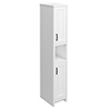 Chatsworth Traditional White Tall Cabinet with Matt Black Handles profile small image view 1