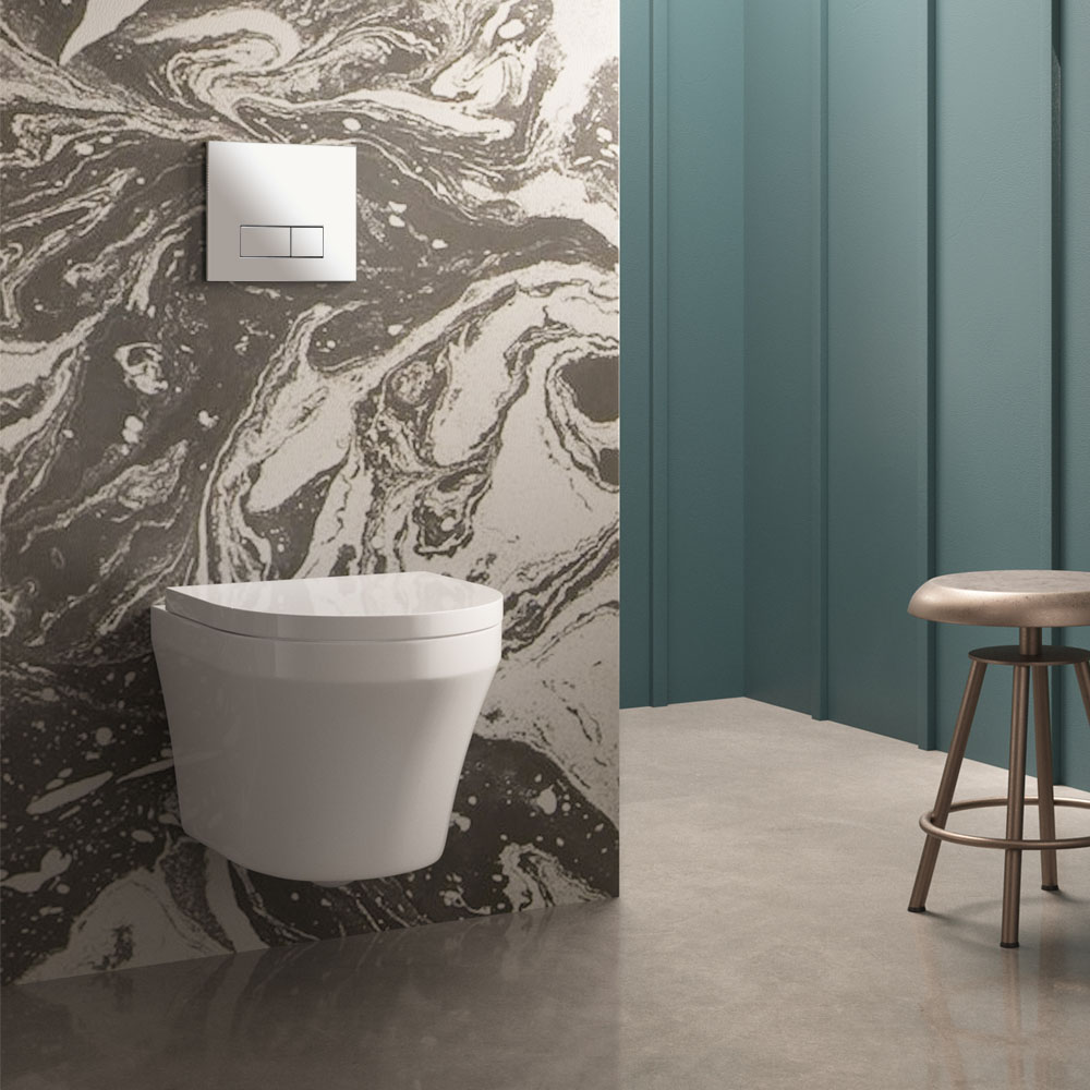 The Dual Flush Concealed WC w/ Wall Hung Frame