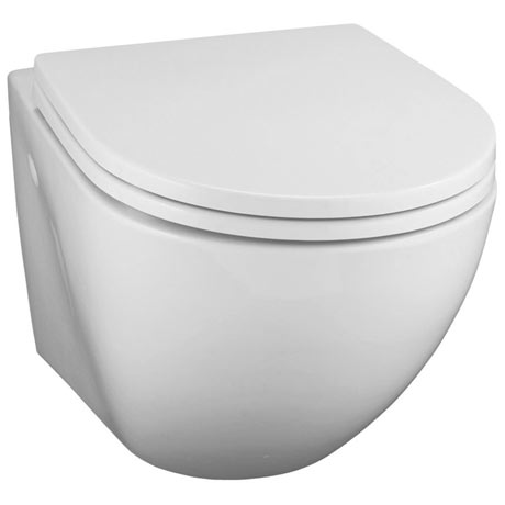 Ideal Standard White Wall Hung WC + Standard Seat