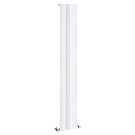 Toronto Aluminium White 1800 x 280mm Tall Vertical Radiator - 3 Sections